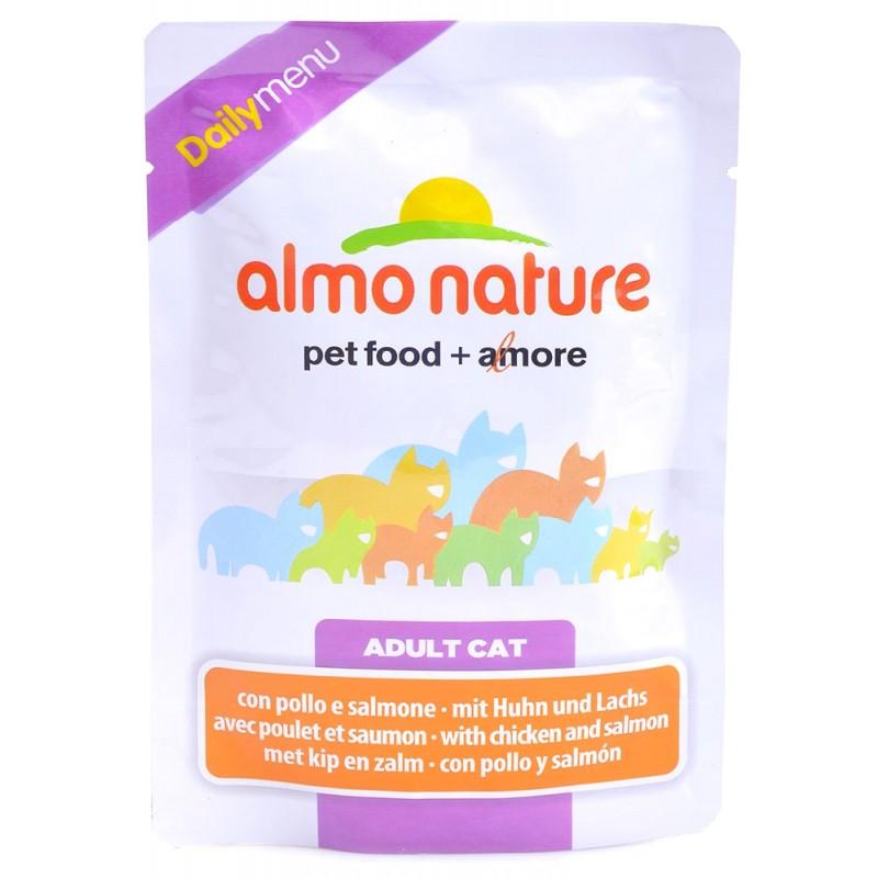 Влажный корм для кошек Almo Nature Daily Menu Adult Cat with Chicken and Salmon 0,07 кг