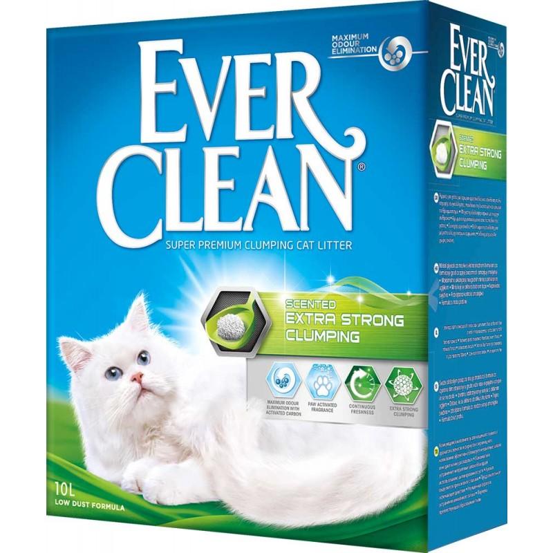 Наполнитель Ever Clean Extra Strong Clumping Scented комкующийся бентонит свежесть 10кг 10 л