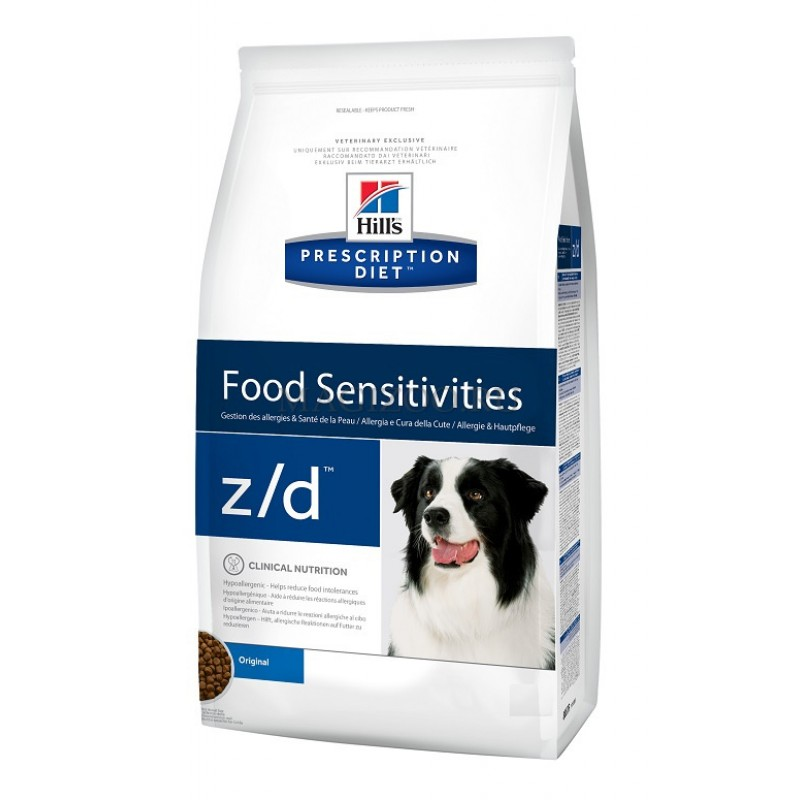 Сухой корм Hills Prescription Diet z/d Canine Ultra Allirgen free диета для собак 8 кг