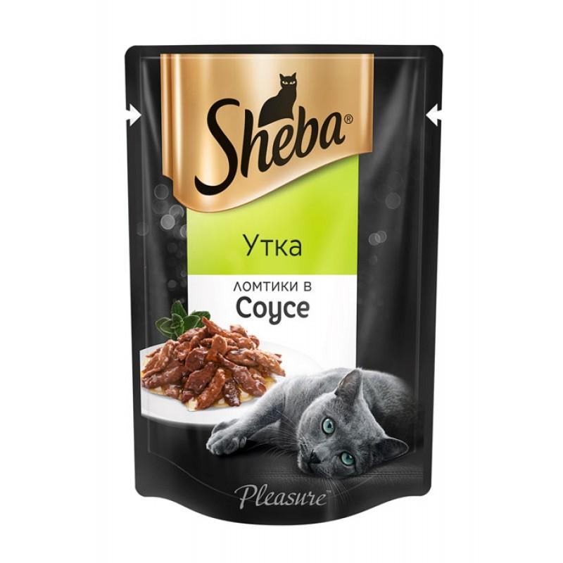 Влажный корм для кошек Sheba Pleasure утка ломтики в соусе пауч 0,85 кг