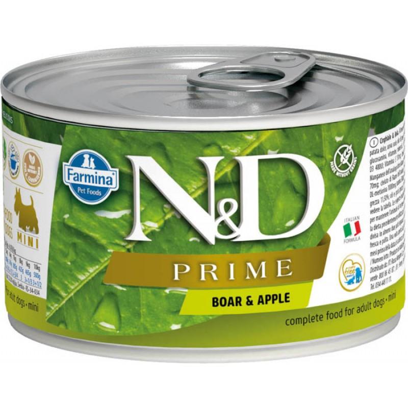 Влажный корм для собак Farmina N & D Prime Boar & Apple Mini с кабаном и яблоком для маленьких пород 0,14 кг