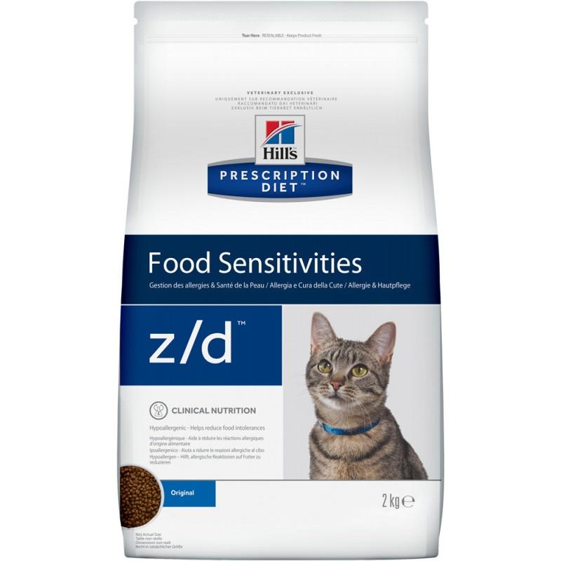 Сухой корм Hills Prescription Diet z/d Feline Low Allergen диета для кошек 2 кг