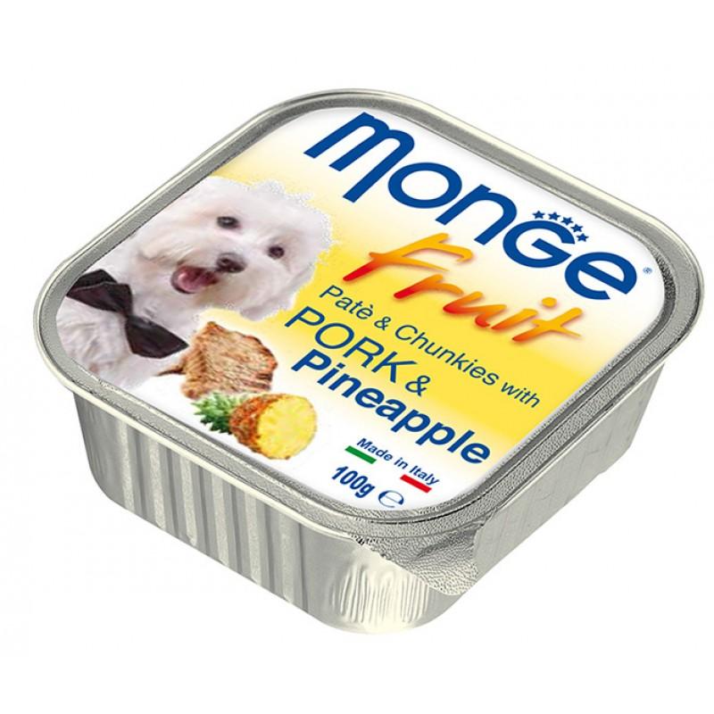 Влажный корм для собак Monge Fresh свинина с ананасом 0,1 кг