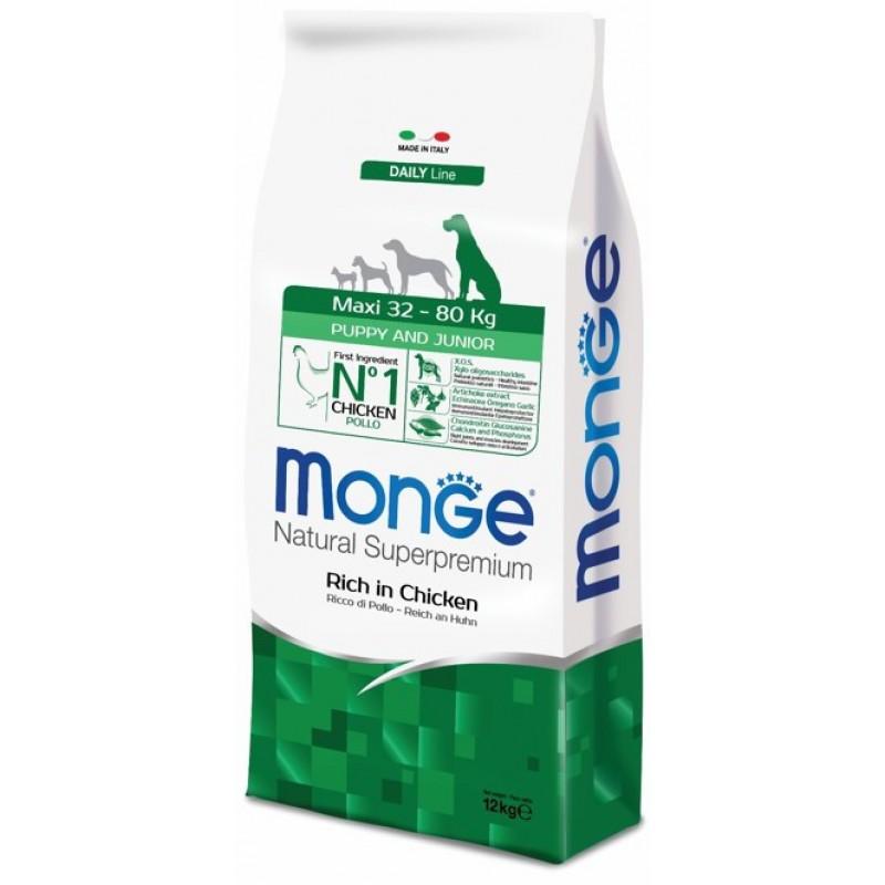 Сухой корм для щенков Monge Maxi Puppy & Junior 3 кг