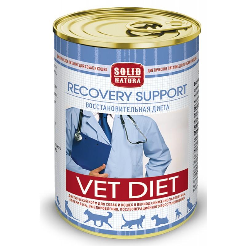Влажный корм Solid Natura VET Recovery Support  диета для кошек и собак 0,34 кг