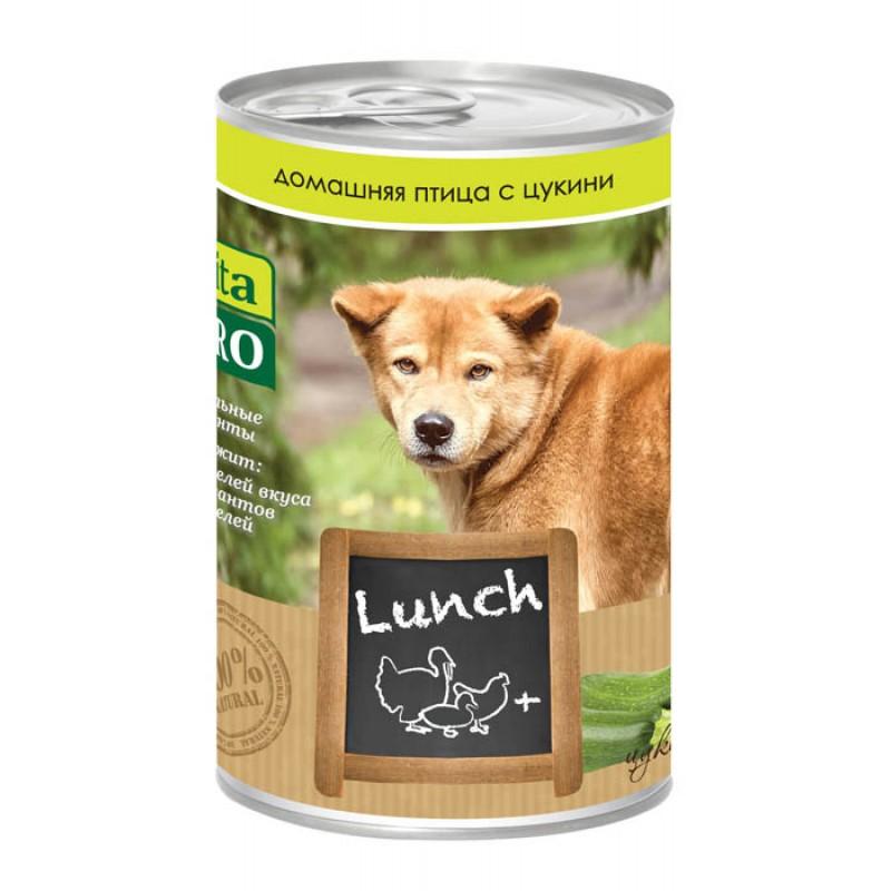 Влажный корм для собак Vita Pro Adult oultry, zucchini с домашней птицей и цукини 0,4 кг