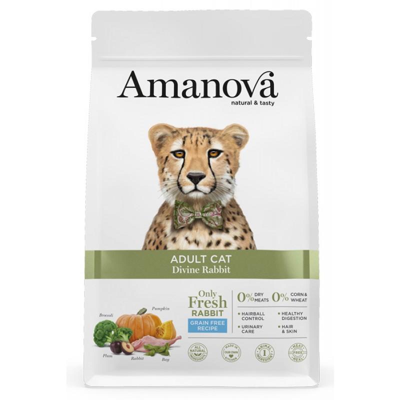 Сухой корм для кошек Amanova GF Adult с волшебным кроликом 1,5 кг