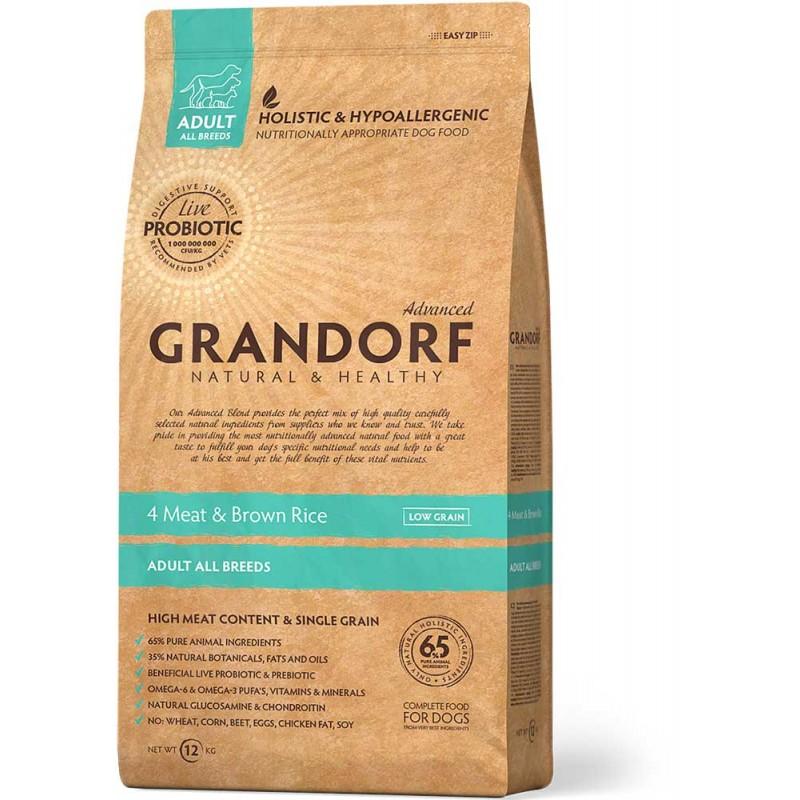 Сухой корм для собак Grandorf 4 Meat&brown Rice 12 кг