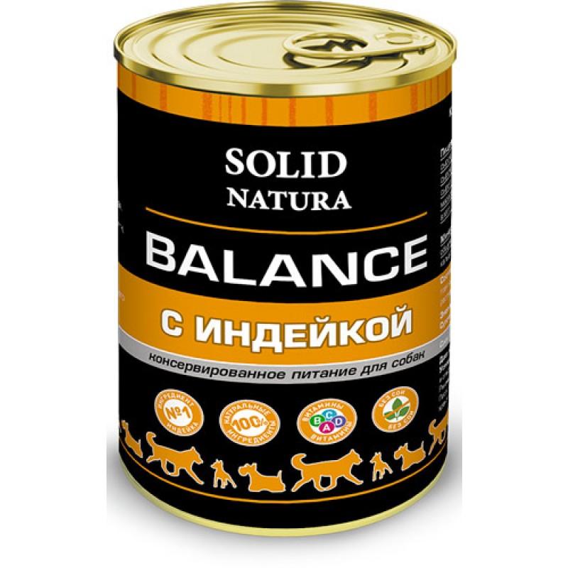 Влажный корм для собак Solid Natura Balance Индейка 0,34 кг