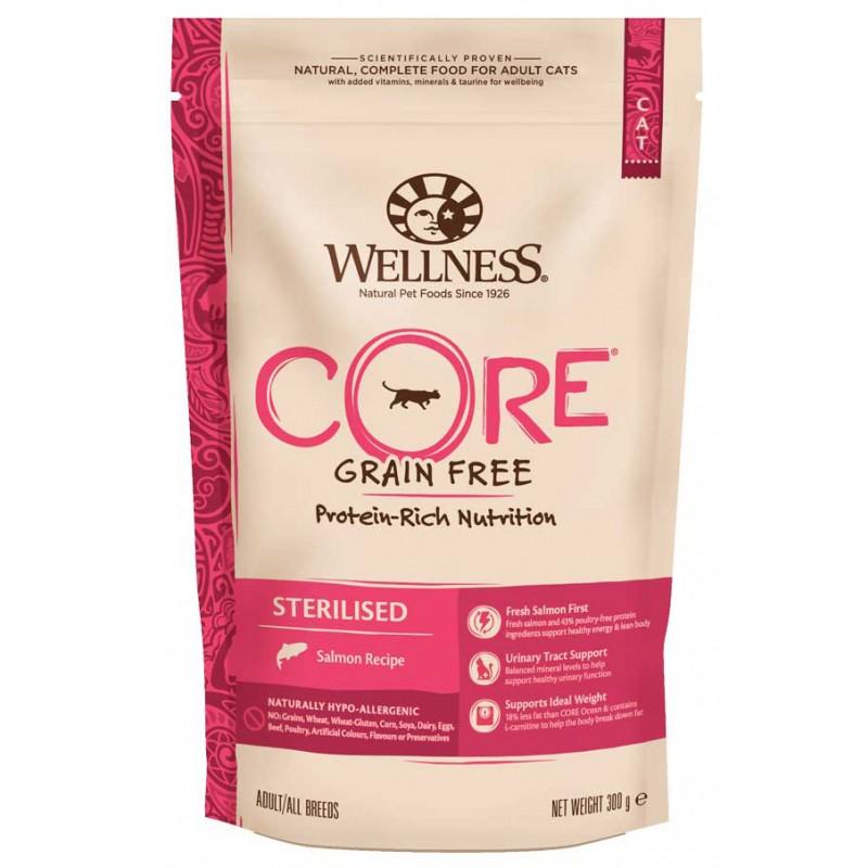 Сухой корм для кошек Wellness Core Sterilised Лосось 0,3 кг