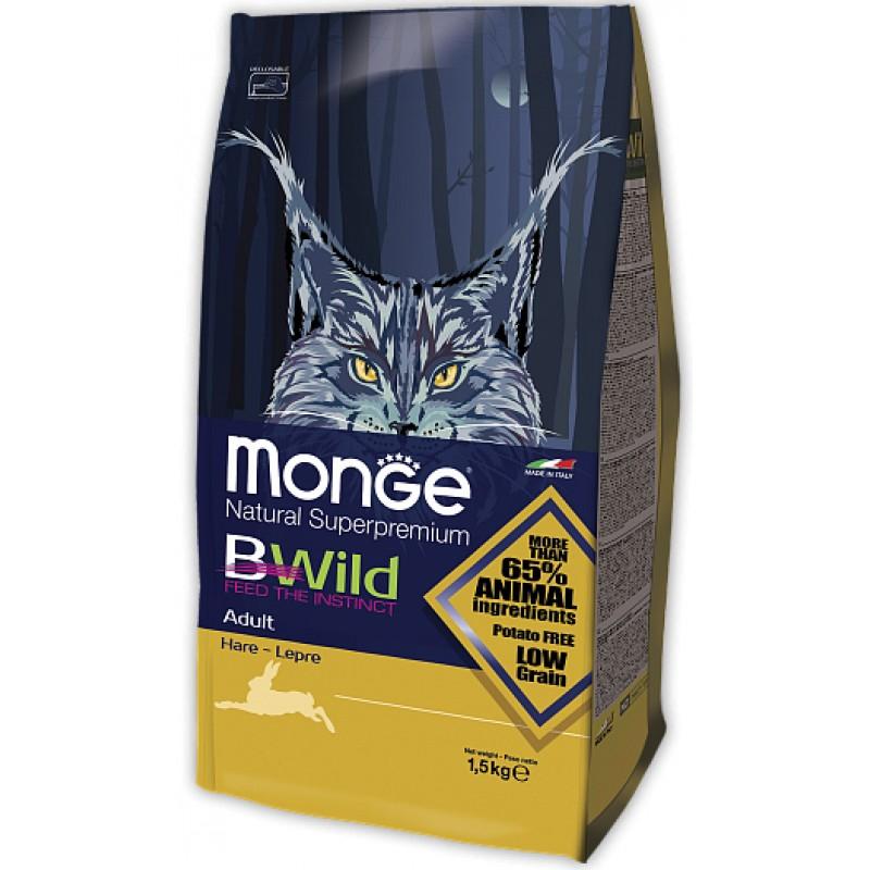 Сухой корм для кошек Monge BWild Cat Low Grain Hare с мясом зайца 1,5 кг