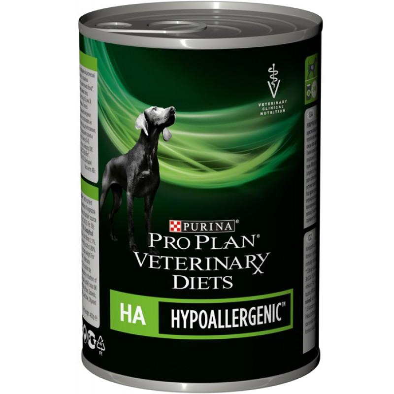 Влажный корм Purina Pro Plan Veterinary Diets HA для снижения непереносимости ингредиентов и питательных веществ диета для собак 0,4 кг