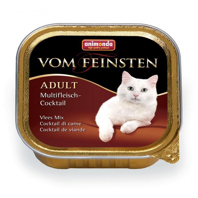 Влажный корм для кошек Animonda Vom Feinsten Adult коктейль из разных сортов мяса для 0,1 кг