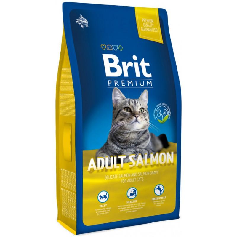 Сухой корм для кошек Brit Premium Cat Adult Salmon 1,5 кг