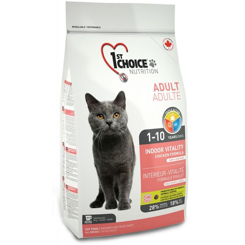 Сухой корм для кошек 1st Choice Indoor Vitality with Chicken Cat 2,72 кг