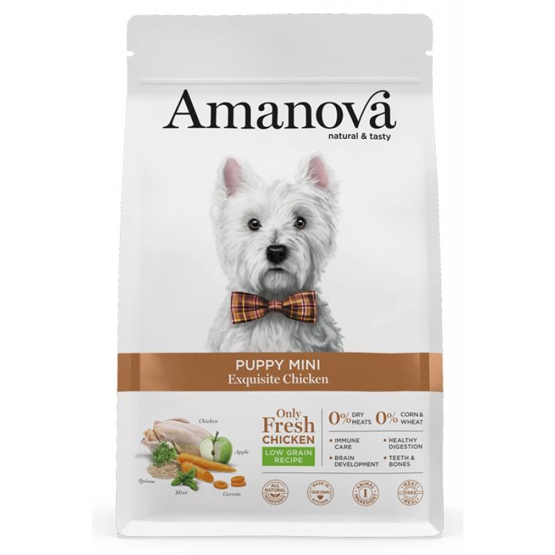 Сухой корм для щенков Amanova Puppy Mini с изысканной курочкой для мелких пород 2 кг