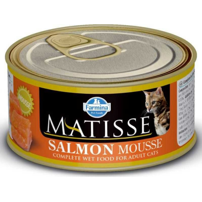 Влажный корм для кошек Farmina Matisse Mousse мусс с лососем 0,085 кг
