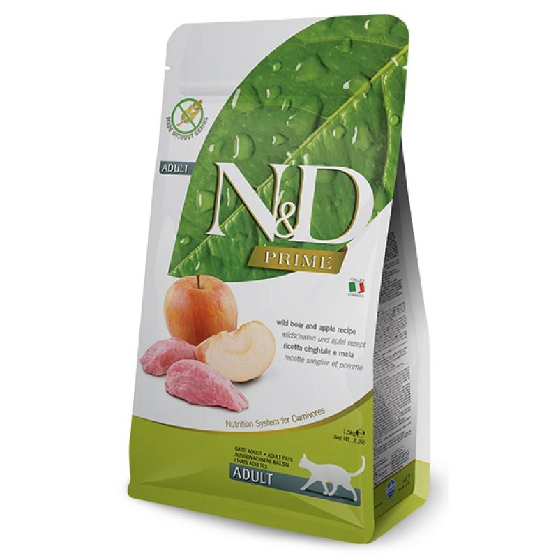 Сухой корм для кошек Farmina N&D Prime Adult беззерновой с кабаном и яблоком 10 кг