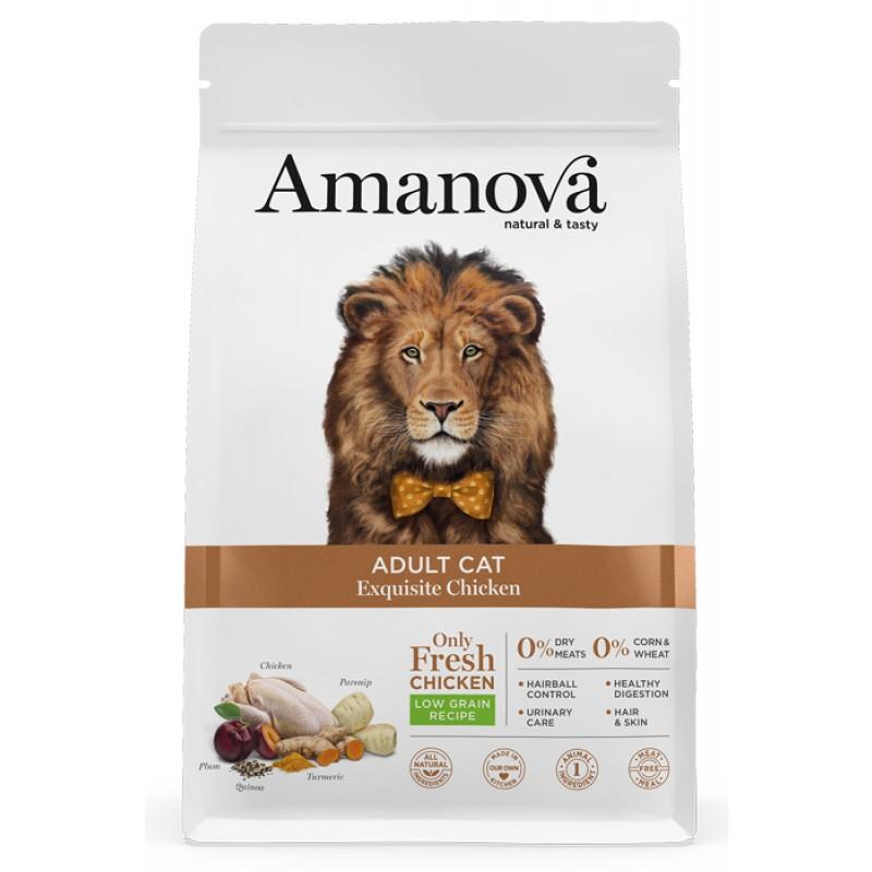 Сухой корм для кошек Amanova Adult с изысканной курочкой 1,5 кг