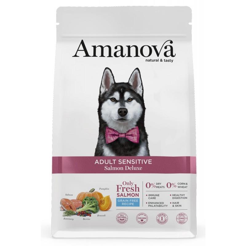 Сухой корм для собак Amanova GF Adult Sensitive с лососем