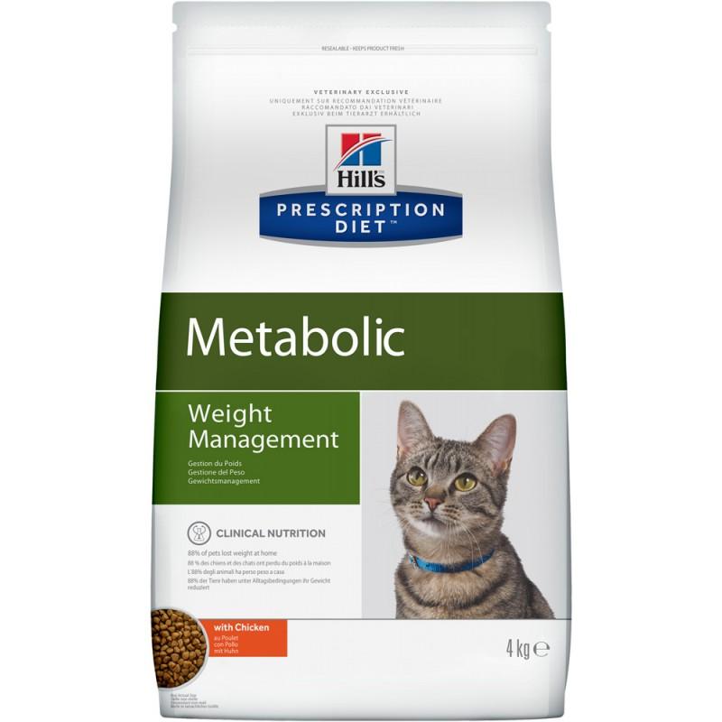 Сухой корм Hills Prescription Diet Metabolic Feline диета для кошек 4 кг