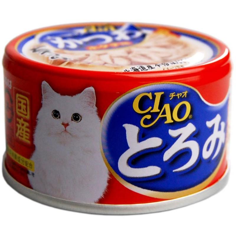 Влажный корм для кошек Inaba Тороми филе курицы, тунец бонито и гребешок в бульоне 0,08 кг