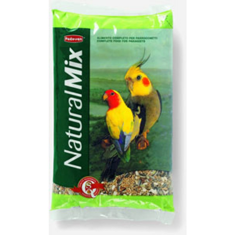 Сухой корм для попугаев Padovan Naturalmix parrocchetti  основной 0,85 кг