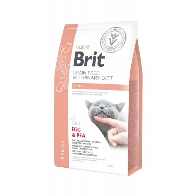корм Brit VD Cat Grain free Renal диета для кошек 2 кг