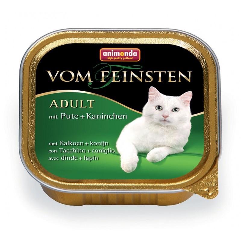 Влажный корм для кошек Animonda Vom Feinsten Adult с индейкой и кроликом 0,1 кг