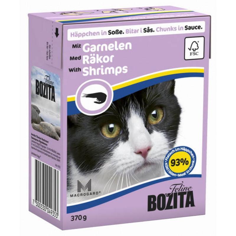 Влажный корм для кошек Bozita Feline Shimps Tetra Pak кусочки в соусе с креветками 0,37 кг