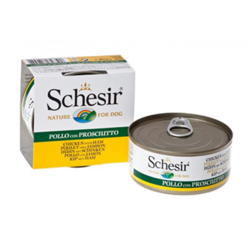Влажный корм для собак Schesir Филе Цыпленка+Ветчина 0,15 кг