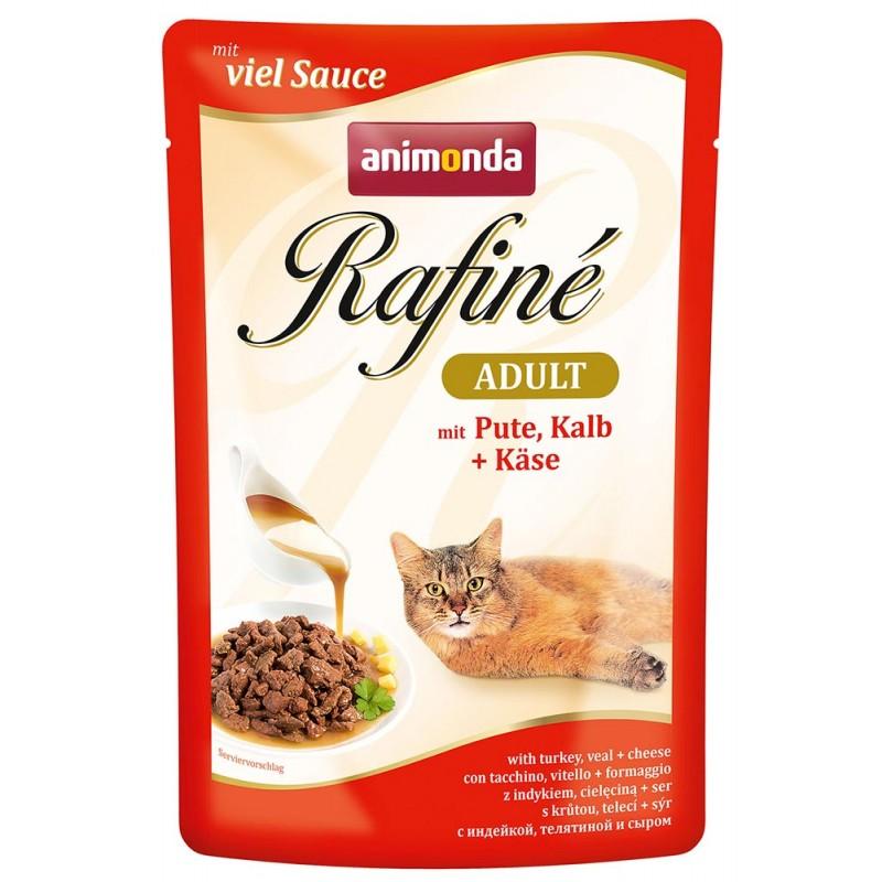 Влажный корм для кошек Animonda Rafine Soupe Adult пауч коктейль из индейки телятины и сыра 0,1 кг