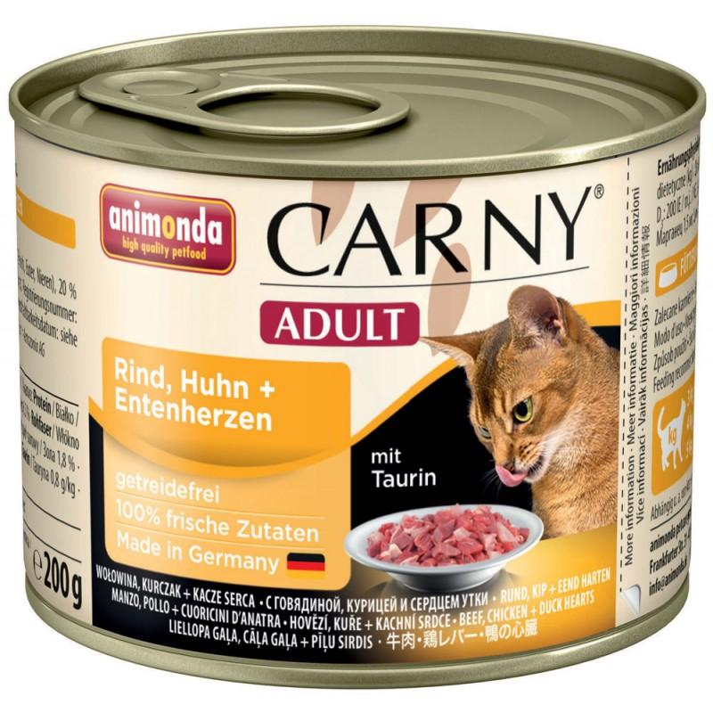 Влажный корм для кошек Animonda Carny Adult Chicken and Duck 0,2 кг
