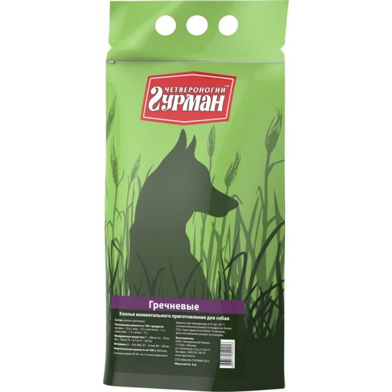 Каша для собак Четвероногий Гурман гречневая в пакете 3 кг