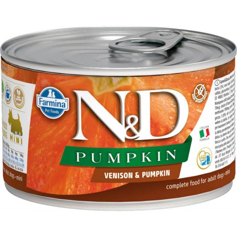 Влажный корм для собак Farmina N & D Venison & Pumpkin Mini с олениной и тыквой для маленьких пород 0,14 кг
