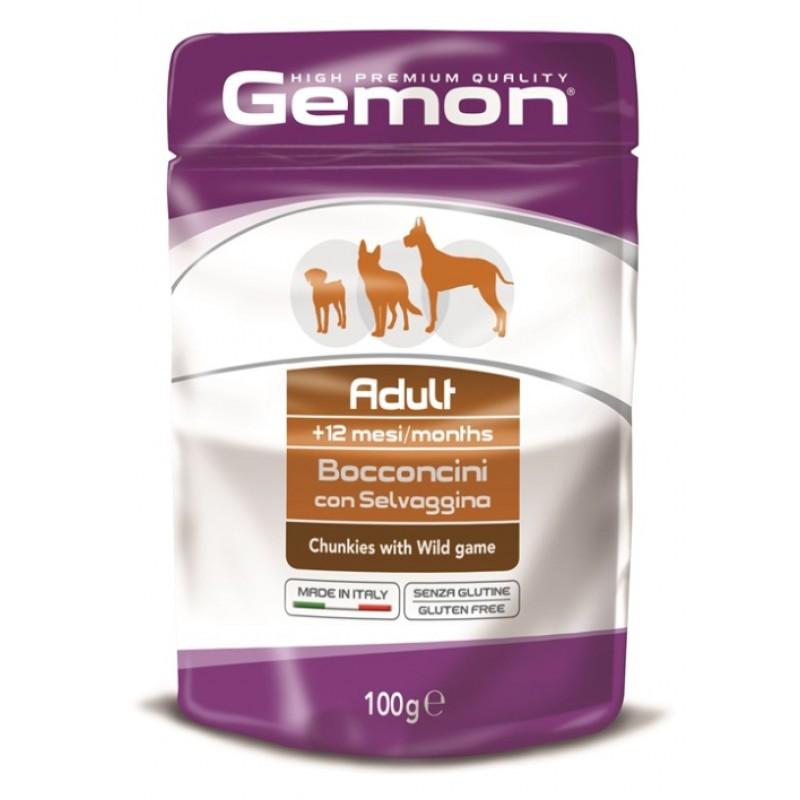 Влажный корм для собак Gemon Dog Pouch кусочки дичи пауч 0,1 кг