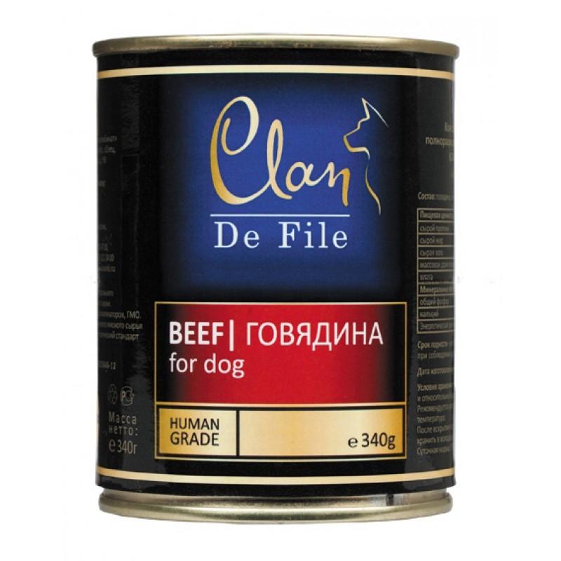 Влажный корм для собак Clan De File Beef 0,34 кг
