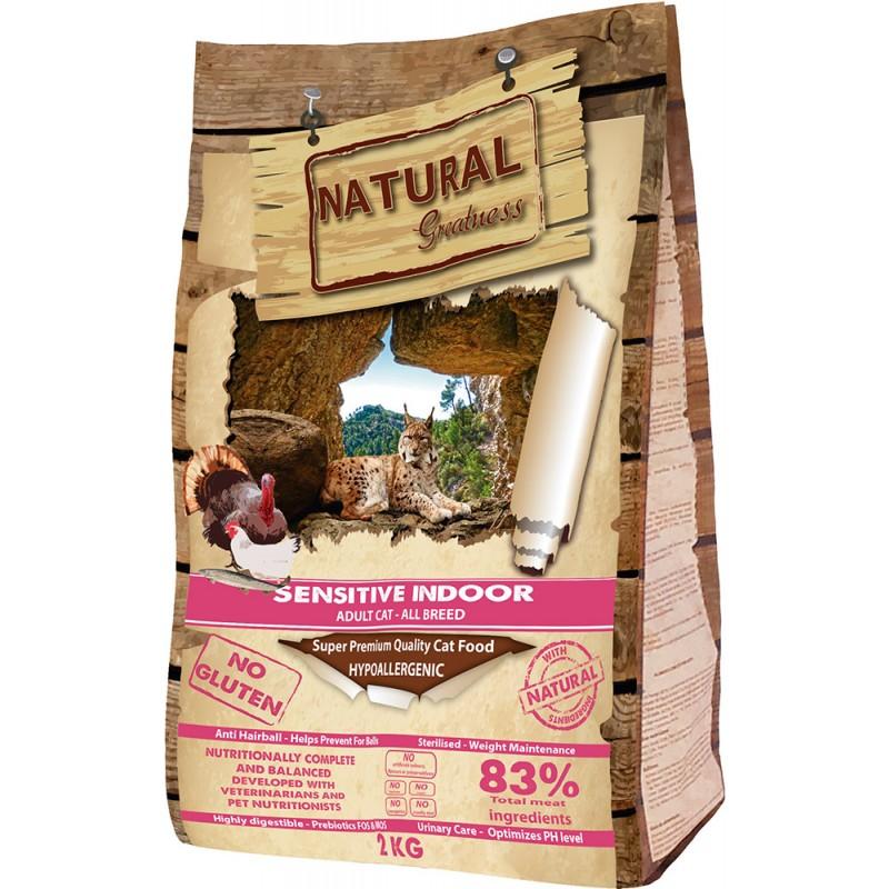 Сухой корм для кошек Natural Greatness Sensitive Indoor Recipe 2 кг