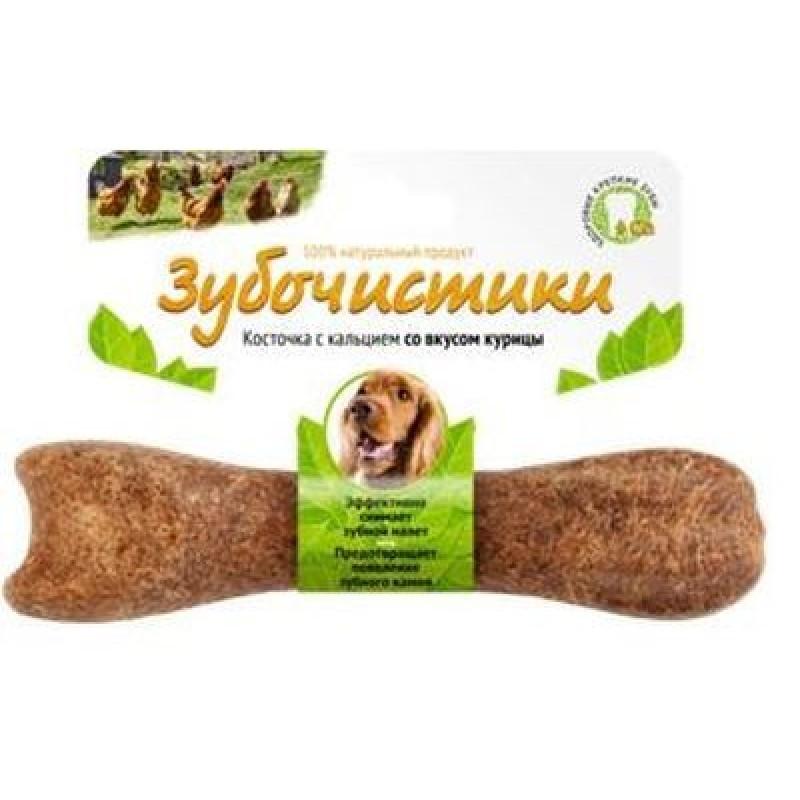 Лакомство для собак средних пород Зубочистики Косточка  со вкусом курицы 0,095 кг