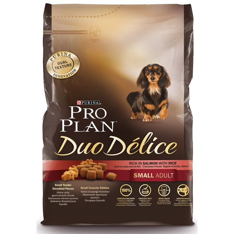 Сухой корм для собак Purina Pro Plan Duo Delice Mini Adult Canine Salmon&Rice 2,5 кг