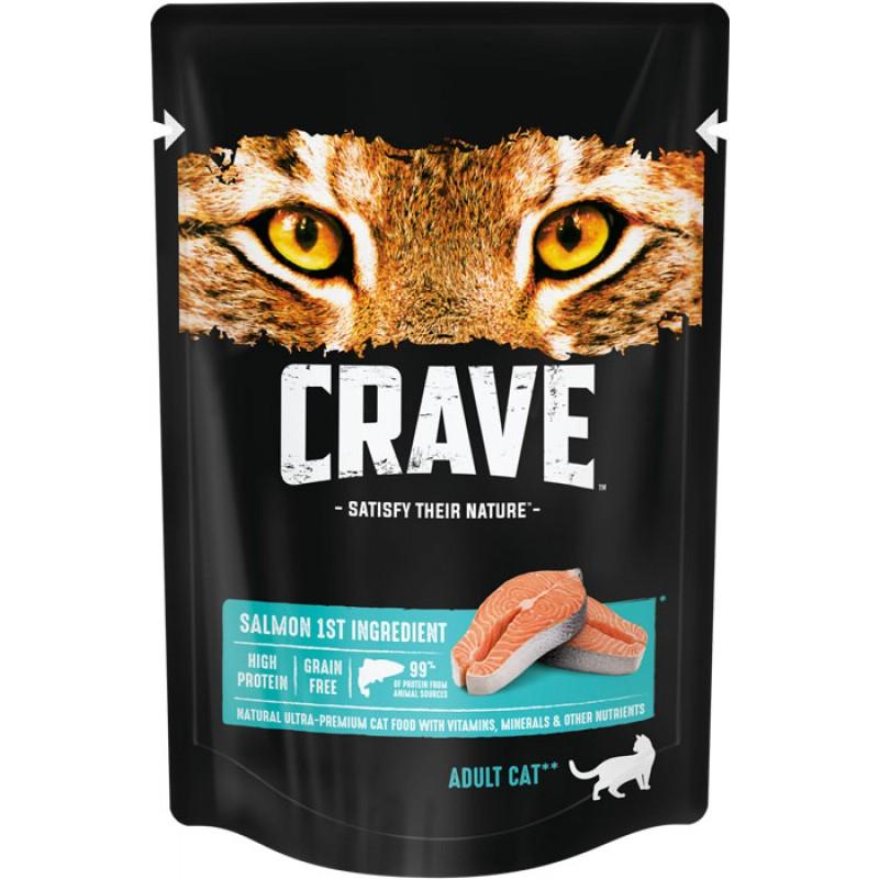 Влажный корм для кошек Crave Adult с лососем 0,07 кг