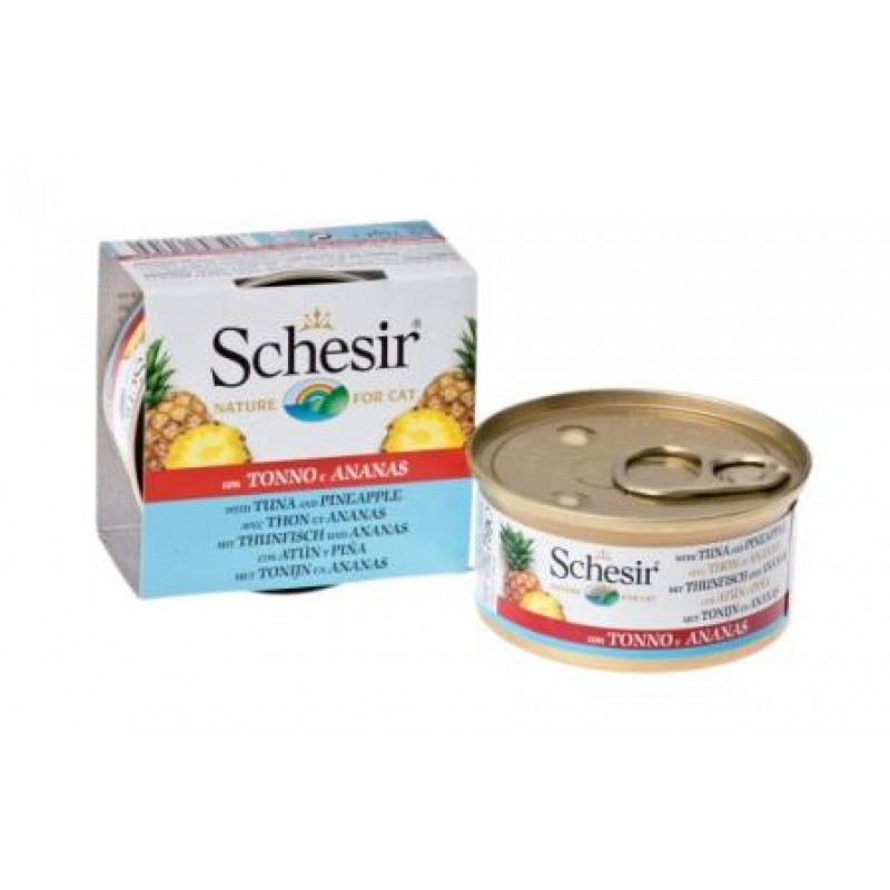 Влажный корм для кошек Schesir Nature Tuna and Pineapple 0,075 кг