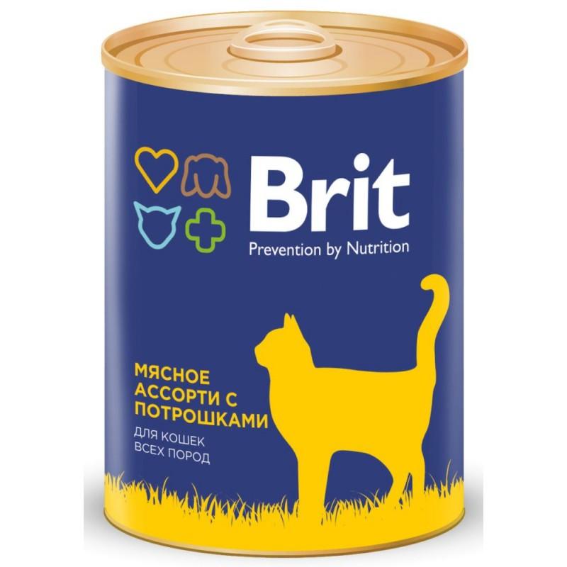 Влажный корм для кошек Brit Beef And Offal Medley 0,34 кг
