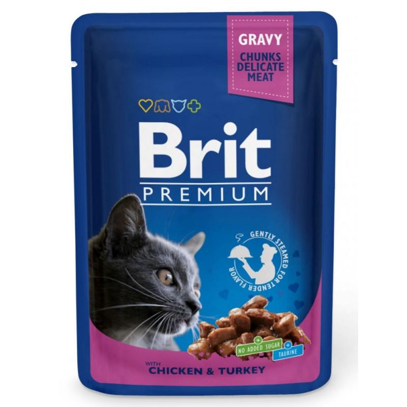 Влажный корм для кошек Brit Chicken & Turkey 0,01 кг