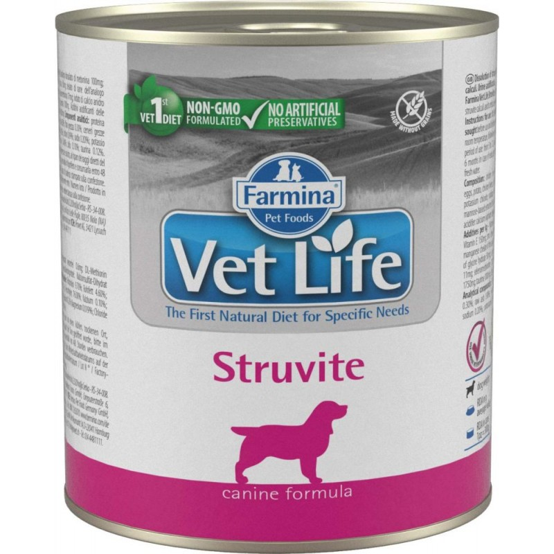 корм Farmina Vet Life Natural Diet Struvite паштет диета для собак 0,3 кг