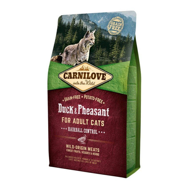 Сухой корм для кошек Carnilove Duck & Turkey for Large Breed с уткой и индейкой для крупных пород 2 кг