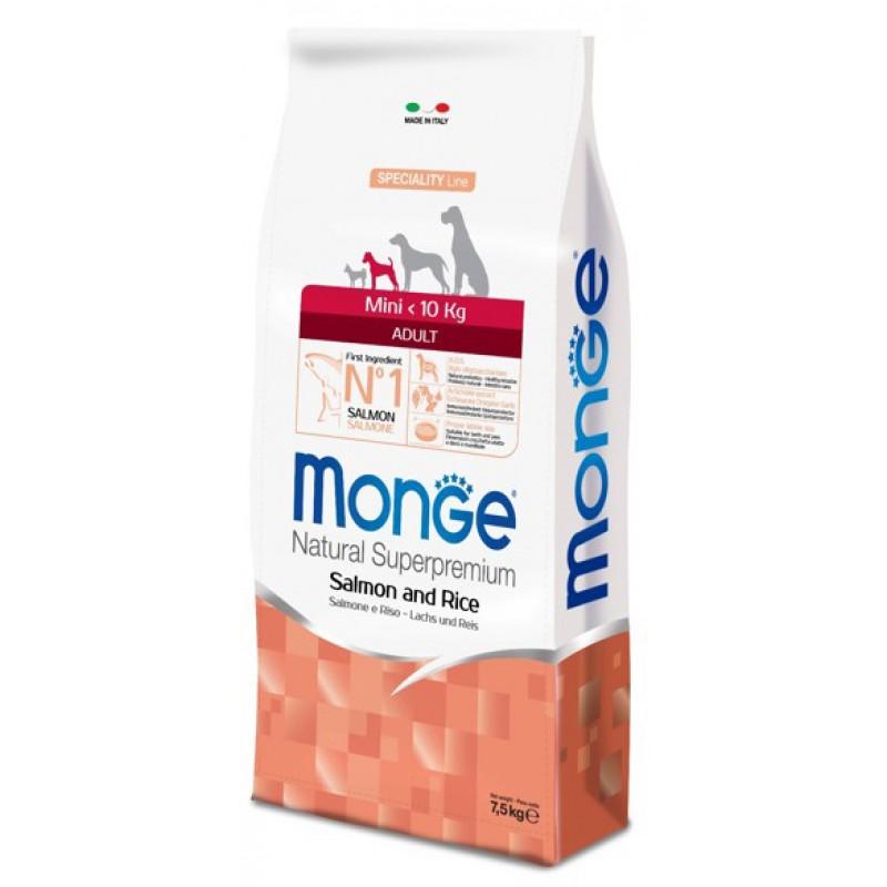 Сухой корм для собак Monge Speciality Mini Adult лосось с рисом 2,5 кг