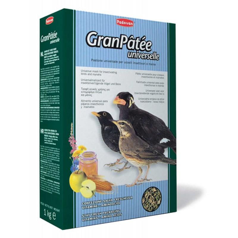 Сухой корм для насекомоядных птиц Padovan Granpatee Universelle комплексный 1 кг