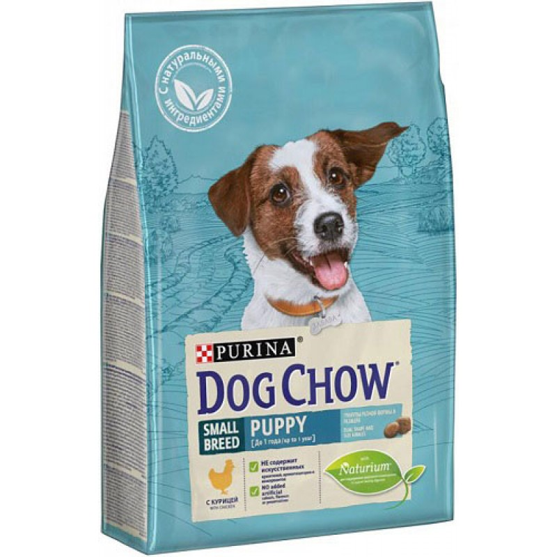 Сухой корм для щенков Dog Chow Puppy Small breed Chiken 2,5 кг