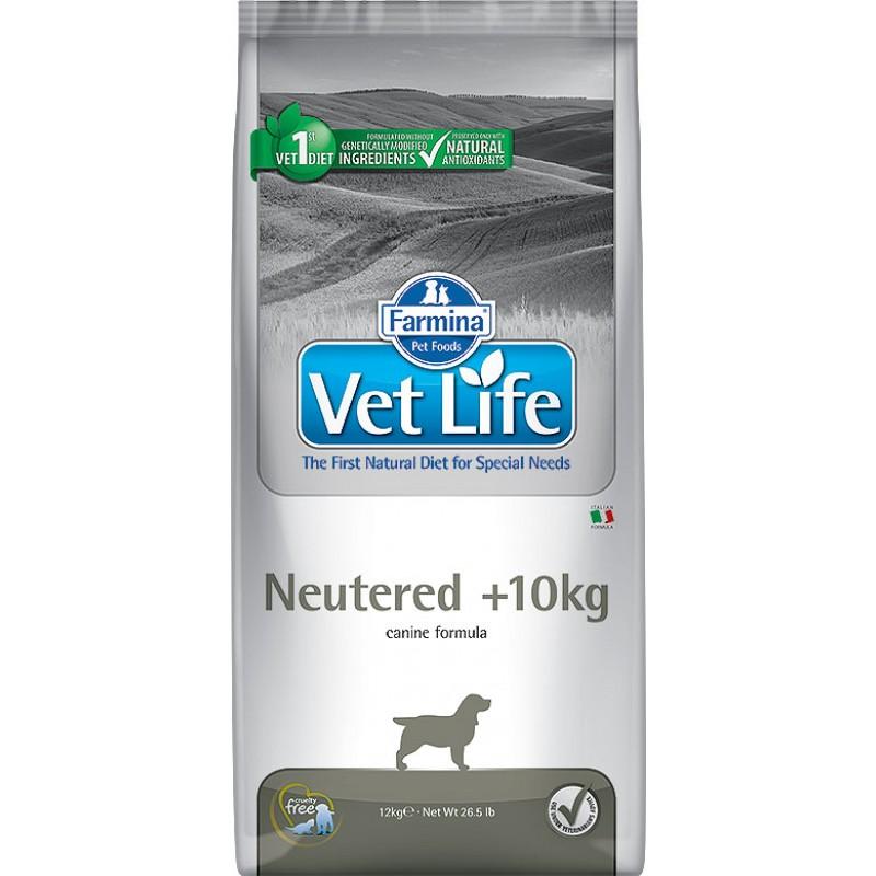 Сухой корм Farmina VET LIFE Canine Neutered +10kg диета для собак 12 кг